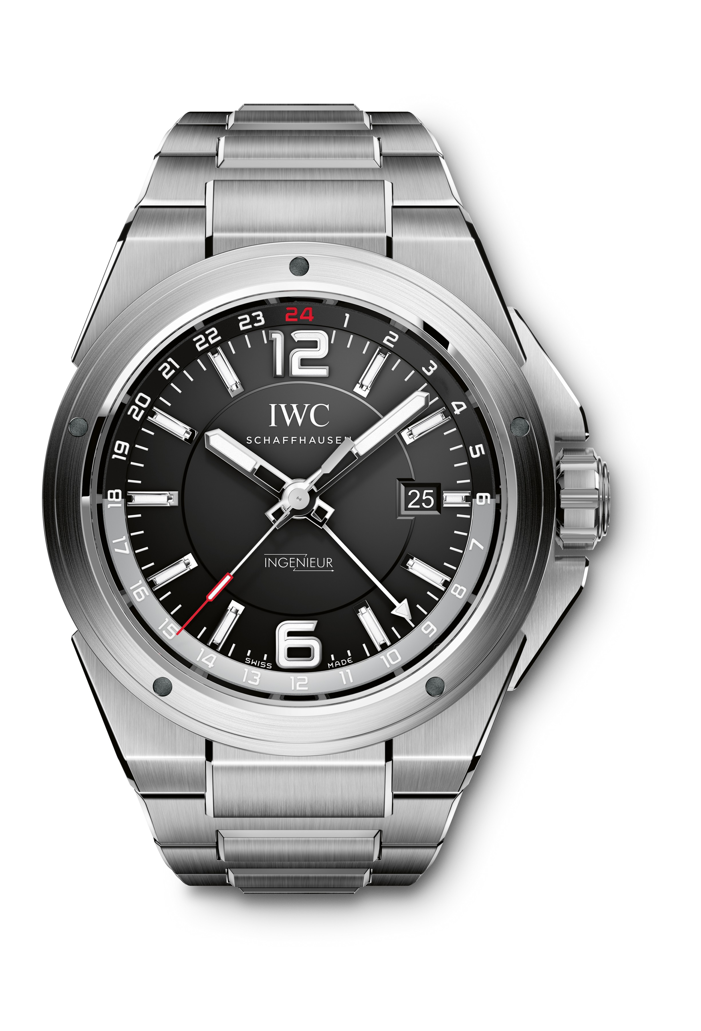 iwc ingenieur dual time iw3244. Black Bedroom Furniture Sets. Home Design Ideas